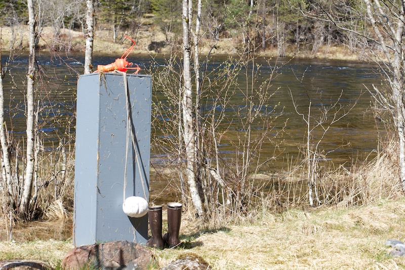 The Plinth/Sokkel after being retrieved from the Harefossen