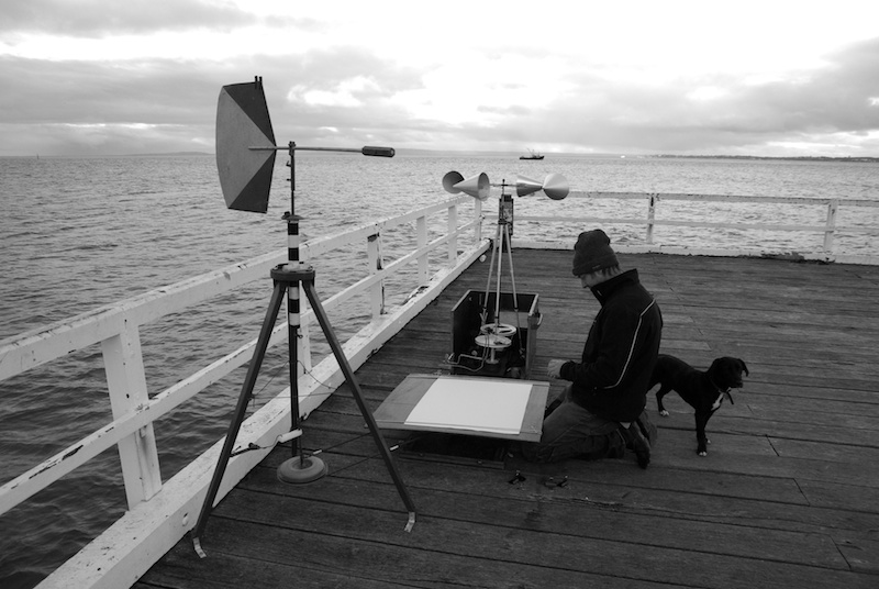 On site at Queenscliff Jetty, southern Australia, winter solstice 2008 (with Comet)